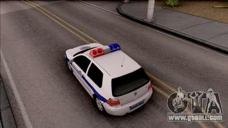Volkswagen Golf 4 GTI Policija for GTA San Andreas back view