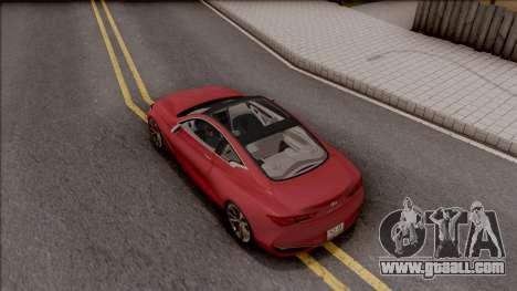 Infiniti Q60 for GTA San Andreas back view
