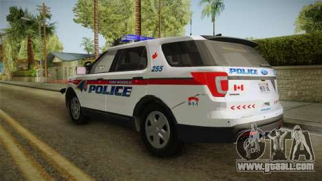 Ford Explorer 2016 YRP for GTA San Andreas back left view