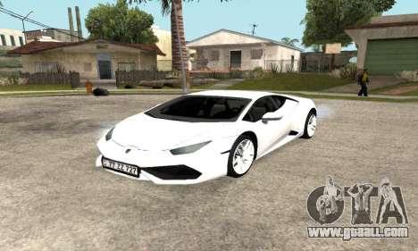 Lamborghini Huracan 2014 Armenian for GTA San Andreas side view