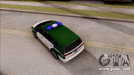 Dinka Perennial MPV Spanish Police for GTA San Andreas back view