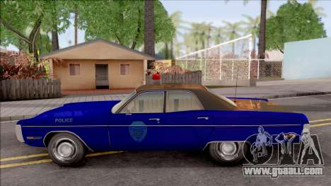 Plymouth Fury 1972 Housing Authority Police for GTA San Andreas left view