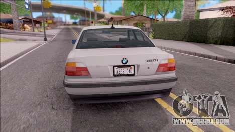 BMW 750i E38 1996 for GTA San Andreas back left view