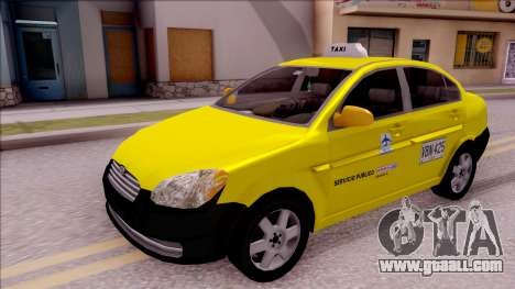 Hyundai Accent Taxi Colombiano for GTA San Andreas