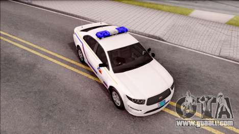 Vapid Police Interceptor Hometown PD 2012 for GTA San Andreas right view