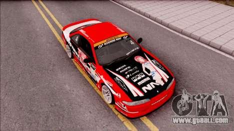Nissan Silvia S14 Drift Nishikino Maki Itasha for GTA San Andreas right view