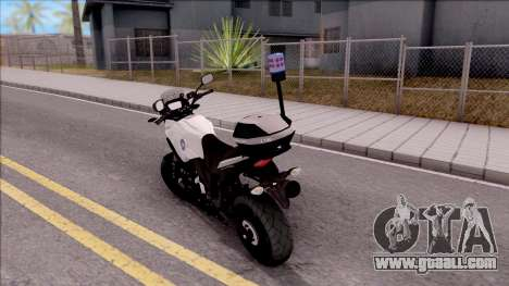 Honda CB500X Turkish Traffic Police Motorcycle for GTA San Andreas left view