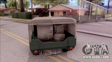 Trabant 601 German Military Pickup for GTA San Andreas back left view