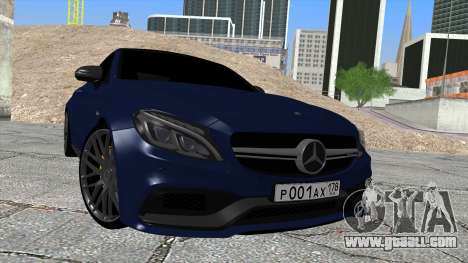 Mercedes-Benz C63 Coupe Rashid Edition for GTA San Andreas right view