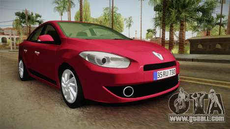 Renault Fluence 2016 for GTA San Andreas right view