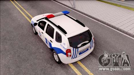 Renault Duster Turkish Police Patrol Car for GTA San Andreas back view
