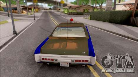 Plymouth Fury 1972 Housing Authority Police for GTA San Andreas back left view