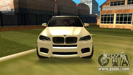 BMW X5M v1.2 for GTA San Andreas back left view