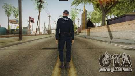 Turkish Police Officer Long Sleeves for GTA San Andreas third screenshot