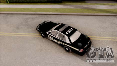 Ford Crown Victoria Central City Police for GTA San Andreas back view
