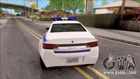 Cheval Fugitive Hometown PD 2012 for GTA San Andreas back left view