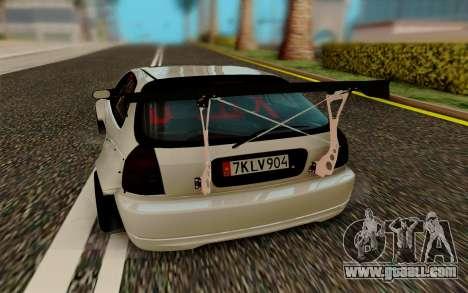 Honda Civic 98 Hatch Rocket Bunny for GTA San Andreas right view