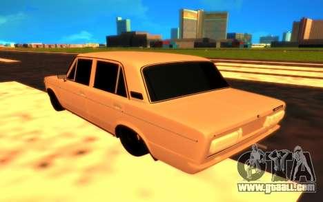 VAZ 2106 for GTA San Andreas back left view