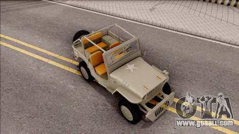 Jeep Willys MB 1945 for GTA San Andreas right view