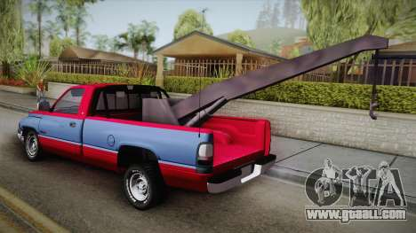 Dodge Ram 2500 Towtruck for GTA San Andreas left view