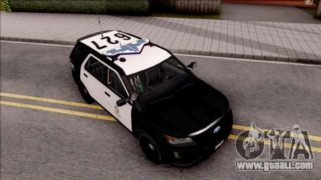 Ford Explorer Police Interception for GTA San Andreas right view