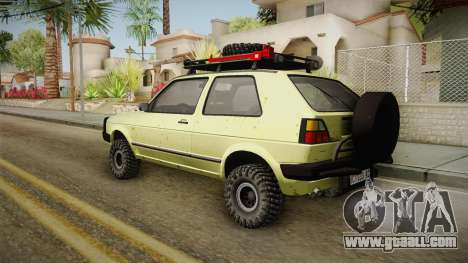 Volkswagen Golf Mk2 Country for GTA San Andreas left view