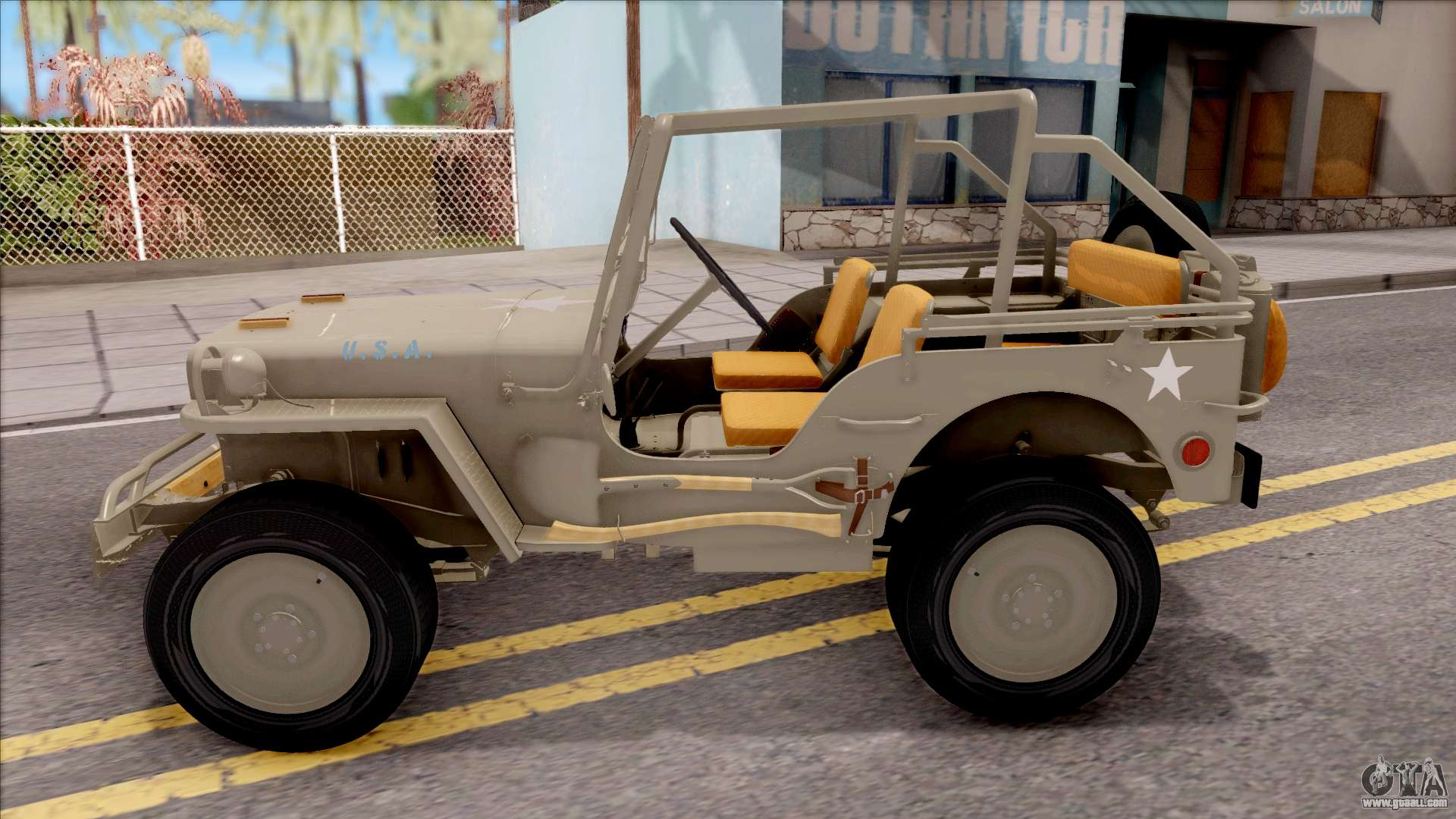 jeep willys mb 1945 for gta san andreas. Black Bedroom Furniture Sets. Home Design Ideas