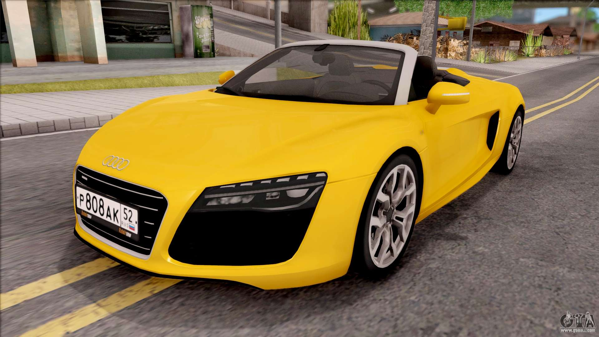 audi r8 cabriolet for gta san andreas. Black Bedroom Furniture Sets. Home Design Ideas