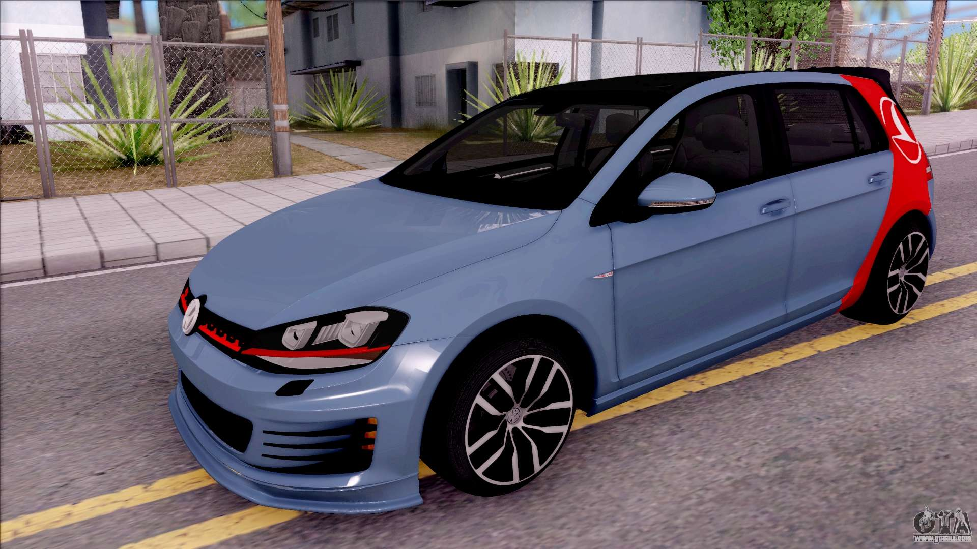 volkswagen golf 7 gti turkish airlines for gta san andreas. Black Bedroom Furniture Sets. Home Design Ideas
