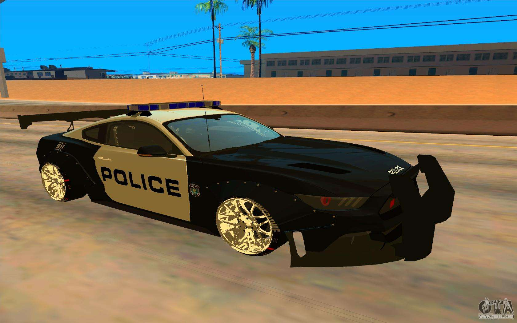 ford mustang gt 2015 police car for gta san andreas. Black Bedroom Furniture Sets. Home Design Ideas