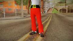 Red pants Santa Claus