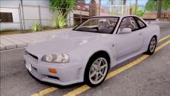 Nissan Skyline GT-R R34 Vspec Stock for GTA San Andreas