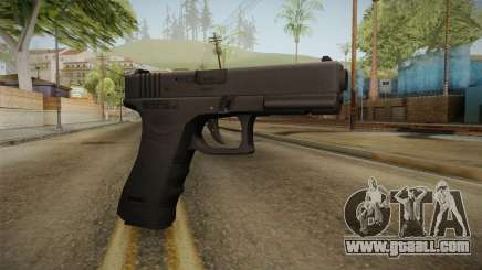Glock 17 3 Dot Sight Ultraviolet Purple for GTA San Andreas