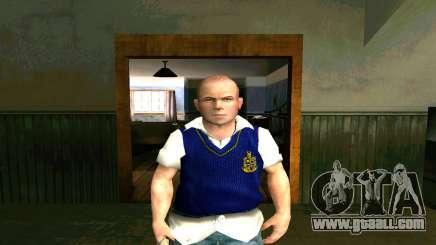 Skin HD Jimmy Hopkins (Bully) for GTA San Andreas