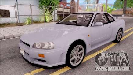Nissan Skyline GT-R R34 Vspec Stock for GTA San Andreas