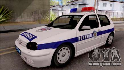 Volkswagen Golf 4 GTI Policija for GTA San Andreas