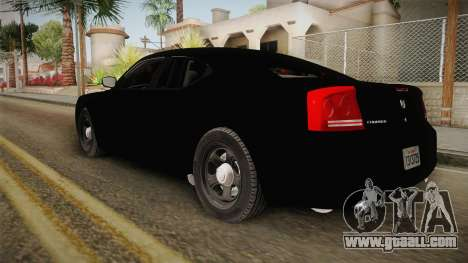 Dodge Charger 2010 Police for GTA San Andreas left view