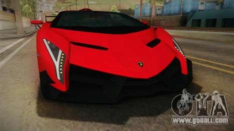 Lamborgini Veneno Roadster 2014 IVF v2 for GTA San Andreas side view