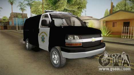 Chevrolet Express CHp for GTA San Andreas right view