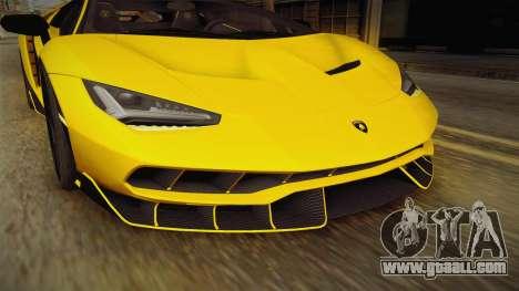 Lamborghini Centenario LP770-4 v1 for GTA San Andreas upper view