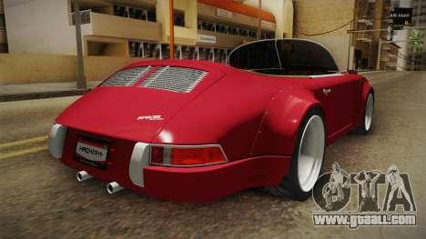 Porsche 911 RWB Speedster 1984 for GTA San Andreas back left view