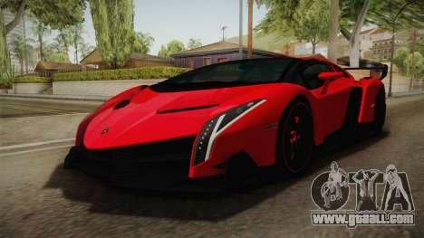 Lamborgini Veneno Roadster 2014 IVF v2 for GTA San Andreas right view