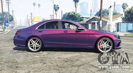 GTA 5 Mercedes-Benz S63 red brake caliper [replace] left side view