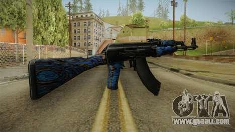 CS: GO AK-47 Blue Laminate Skin for GTA San Andreas