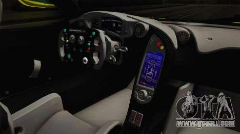 McLaren P1 GTR for GTA San Andreas inner view