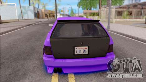 Stratum Stanced With Neon for GTA San Andreas back left view