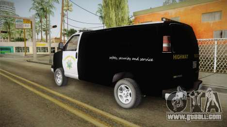 Chevrolet Express CHp for GTA San Andreas left view