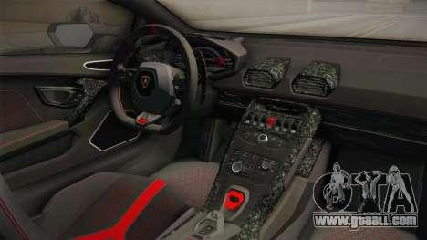 Lamborghini Huracan Performante LP640-4 2017 v1 for GTA San Andreas inner view