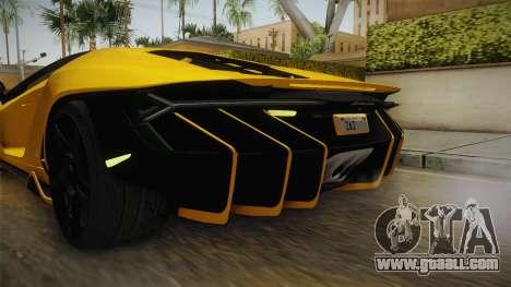 Lamborghini Centenario LP770-4 v1 for GTA San Andreas interior