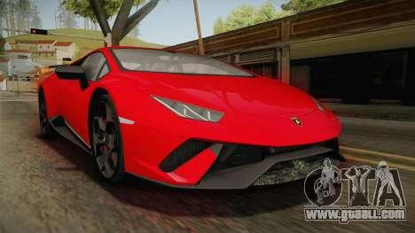 Lamborghini Huracan Performante LP640-4 2017 v1 for GTA San Andreas
